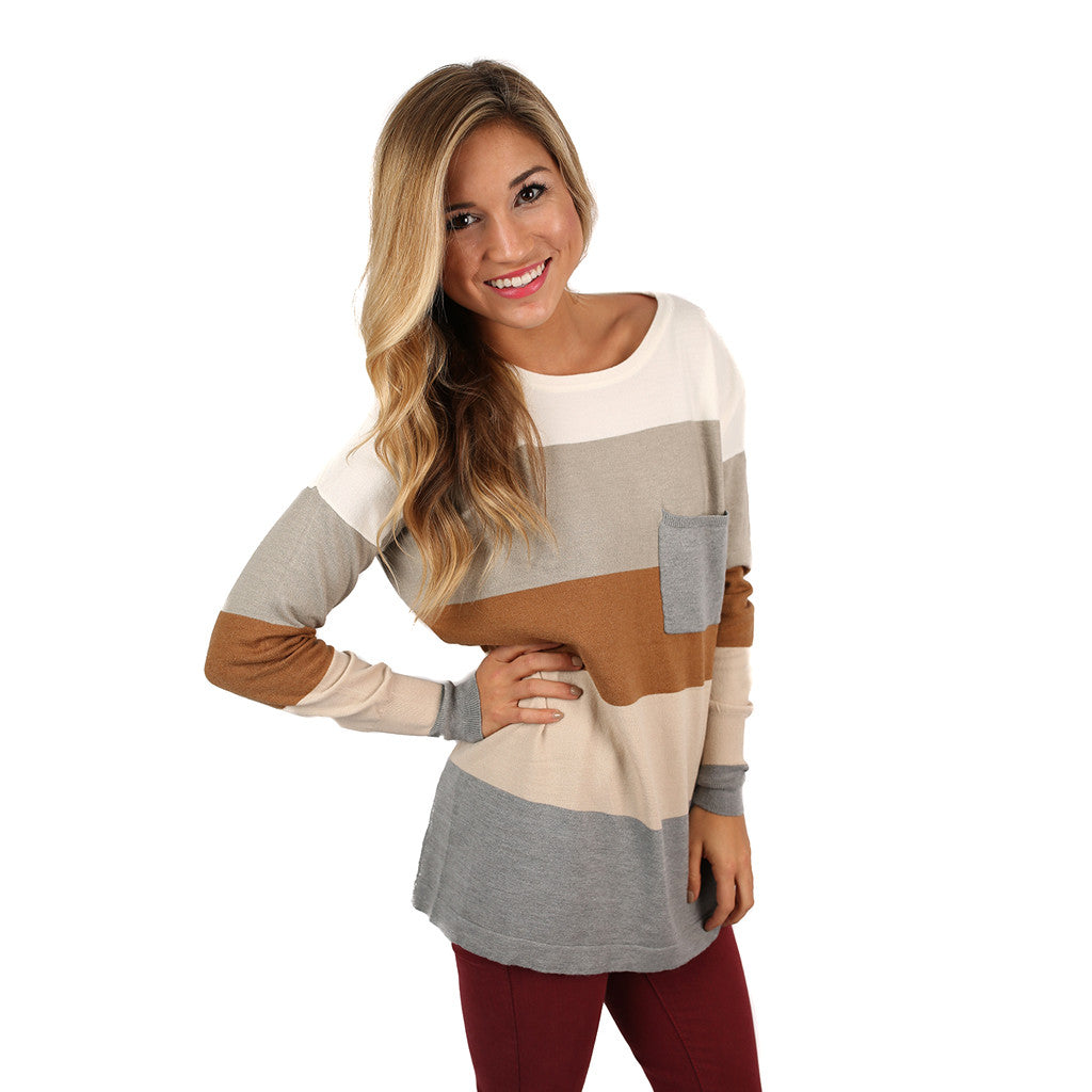 Cozy Luxury Thin Sweater Camel/Taupe