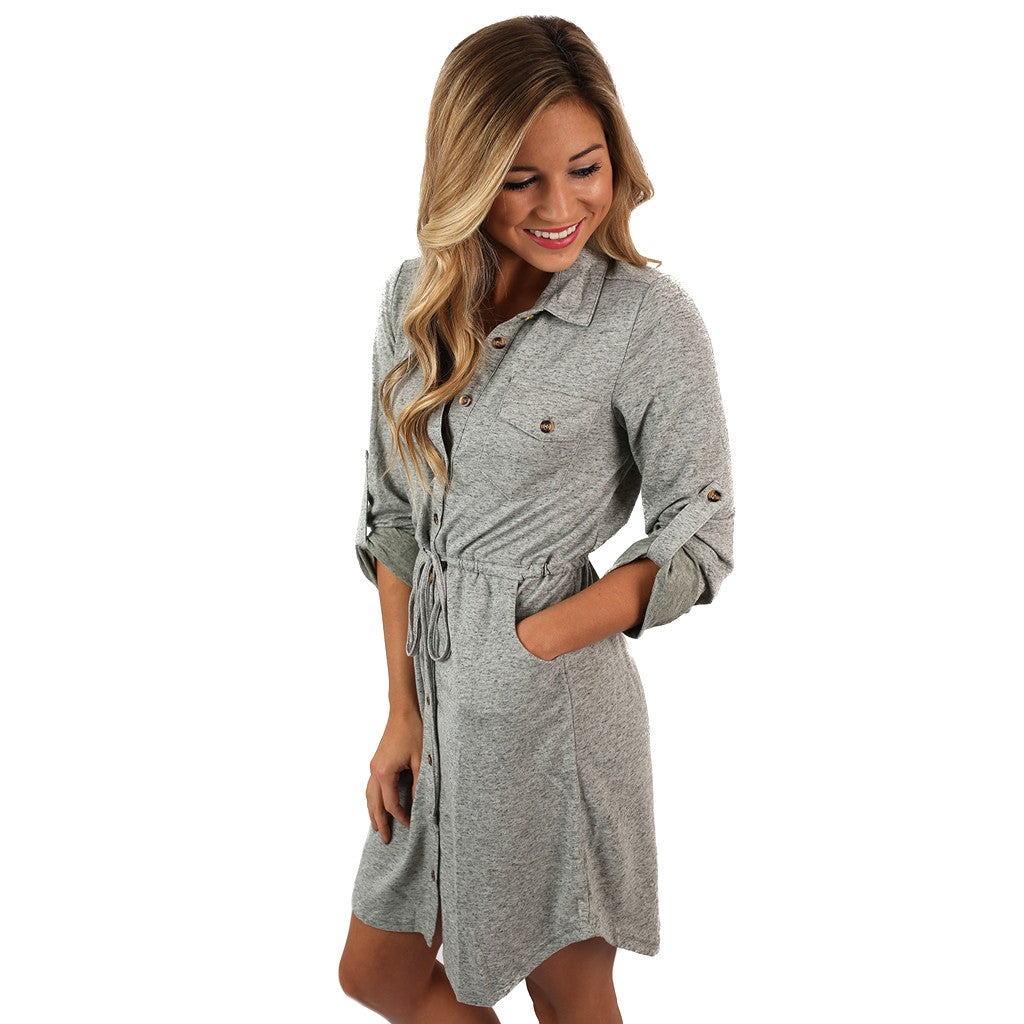 Take Me On A Getaway Dress in Grey