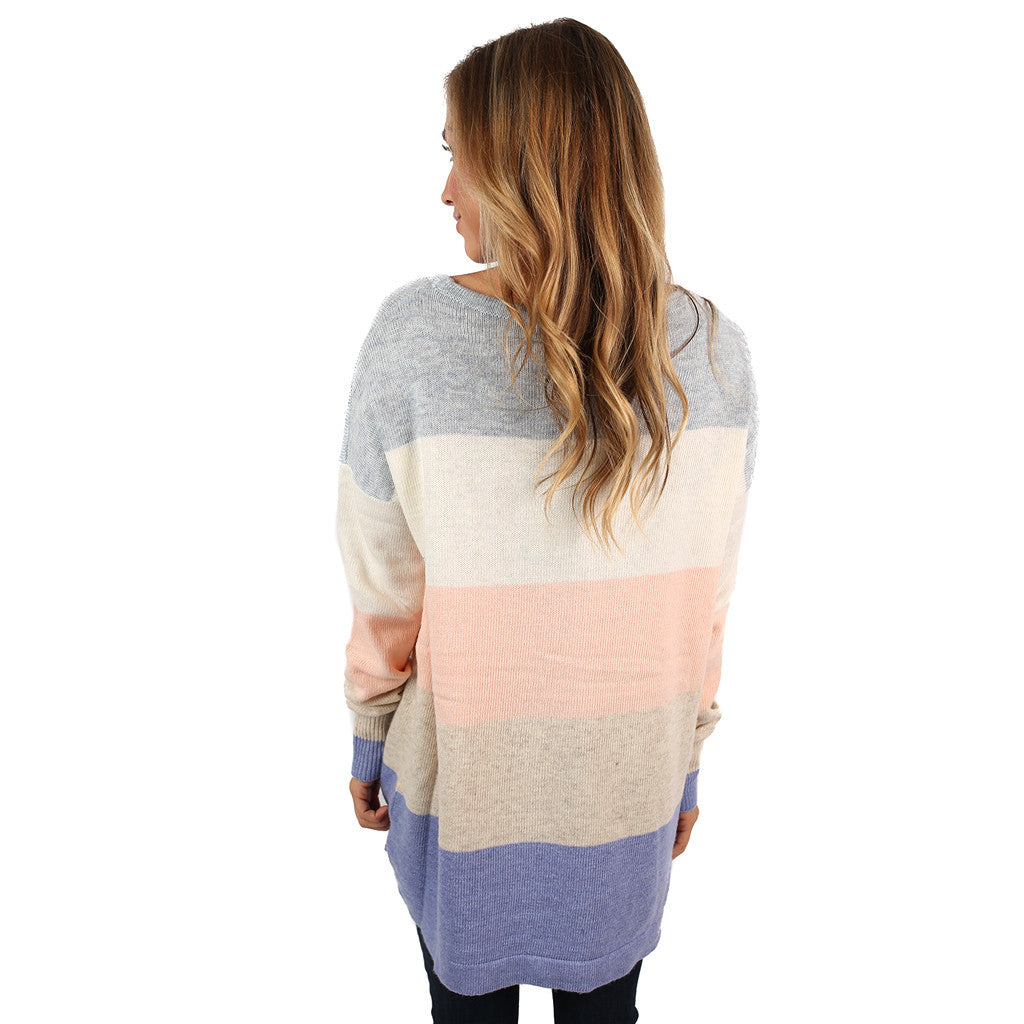 Cozy Luxury Violet/Peach Sweater