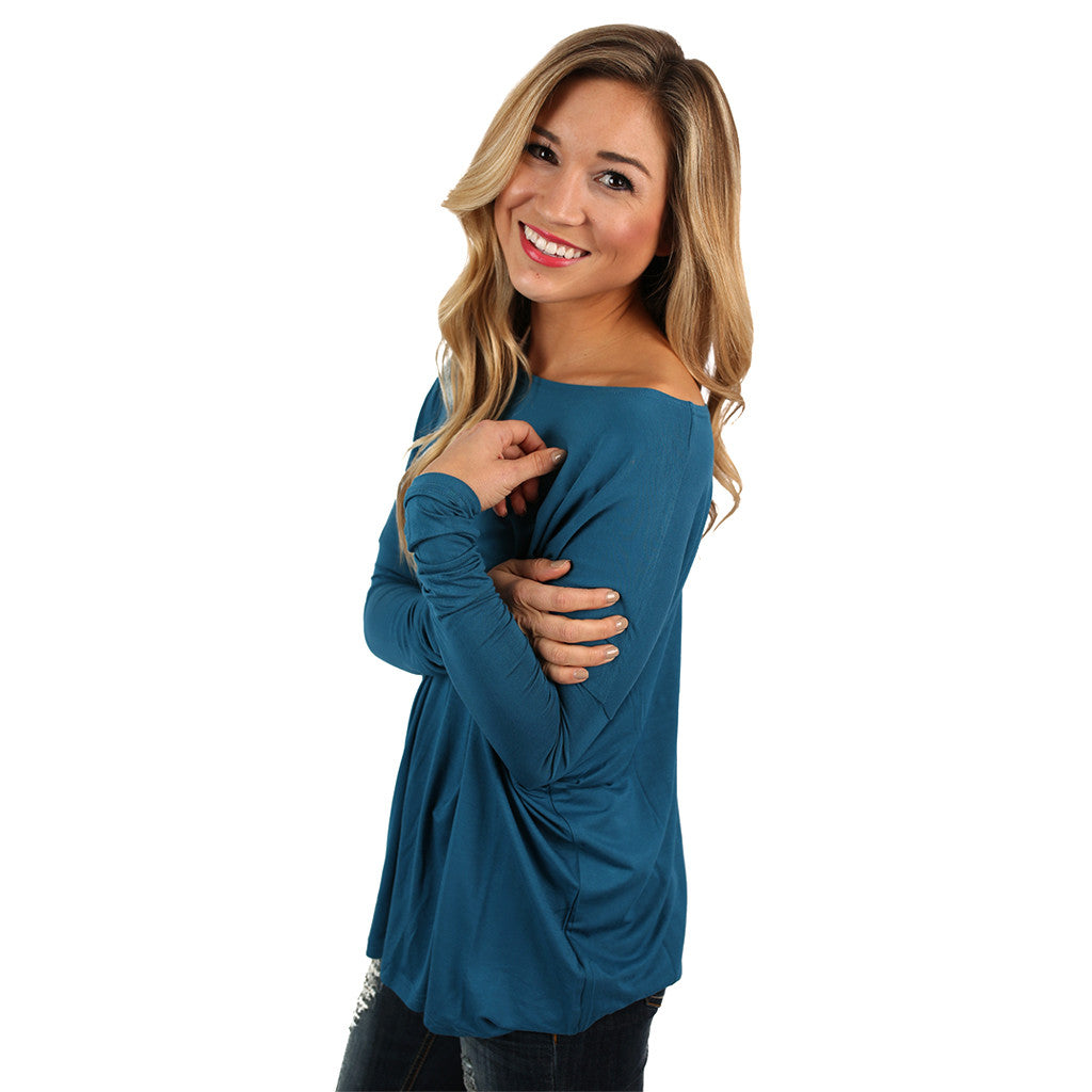PIKO Long Sleeve Tee in Slate Blue