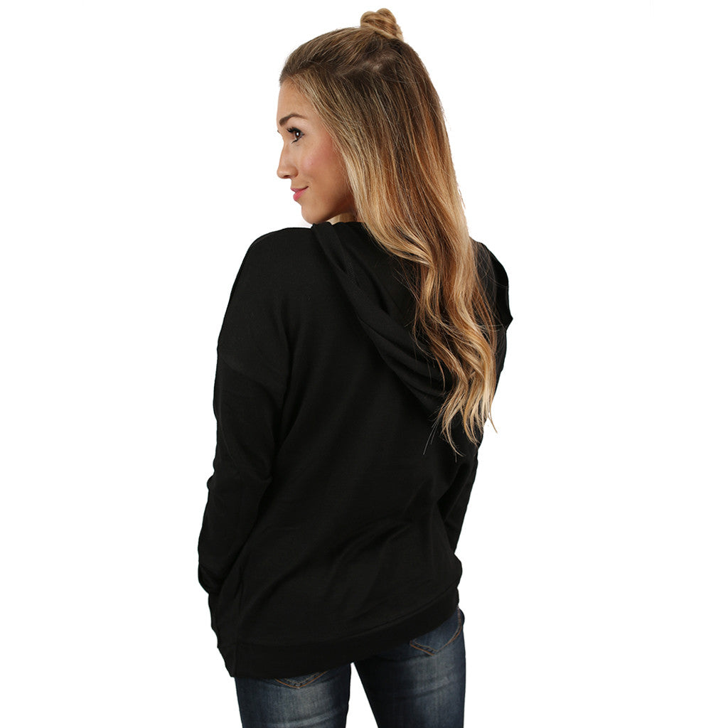 Love You Oh So Well Hoodie in Black