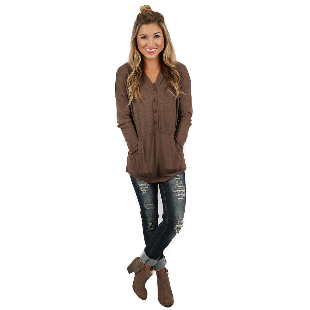 Love You Oh So Well Hoodie in Mocha