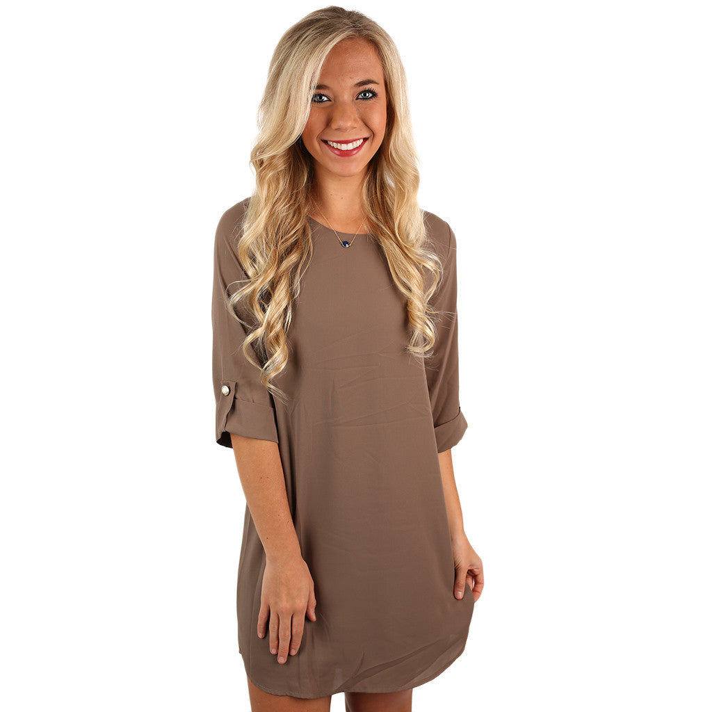 Lattes & Love Dress in Mocha