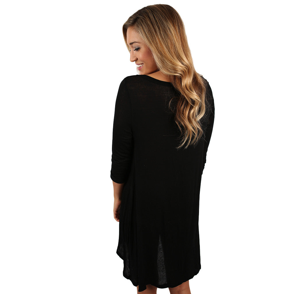 Yours Truly Tunic in Black