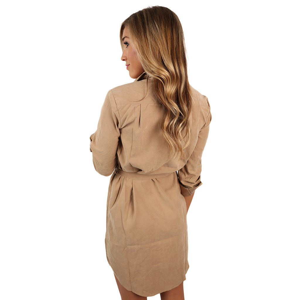 Everyday Comfort Dress in Khaki