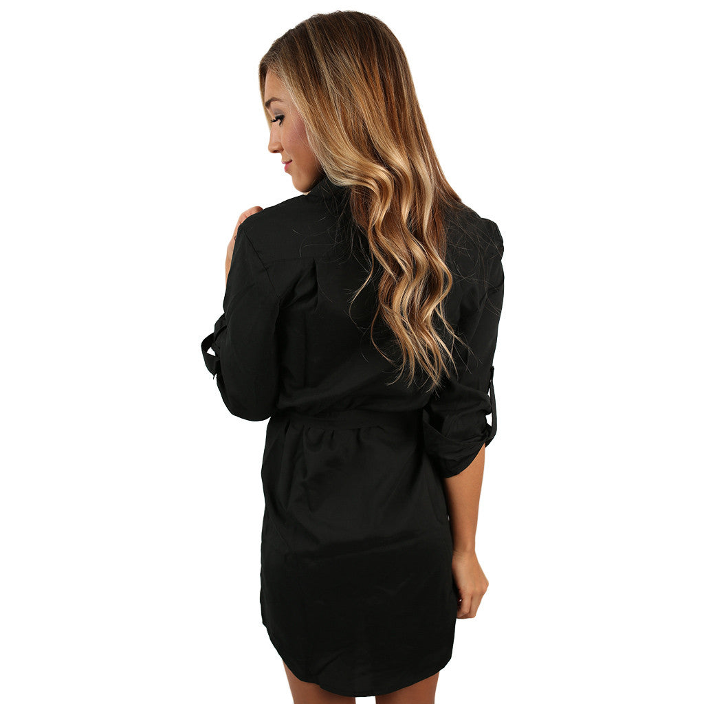 Everyday Comfort Dress in Black