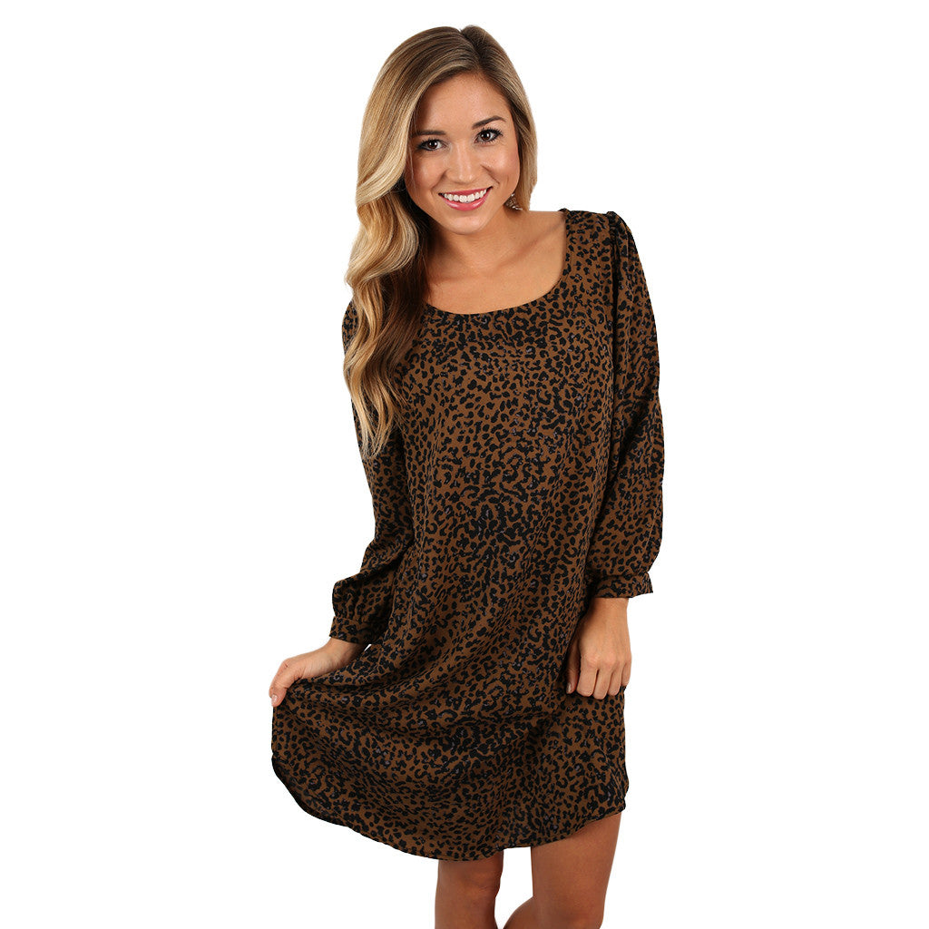 Chase Me Cheetah Shift Dress