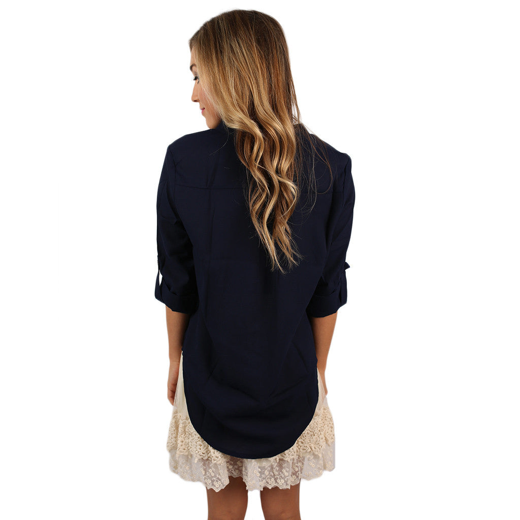 Let It Be Top in Navy