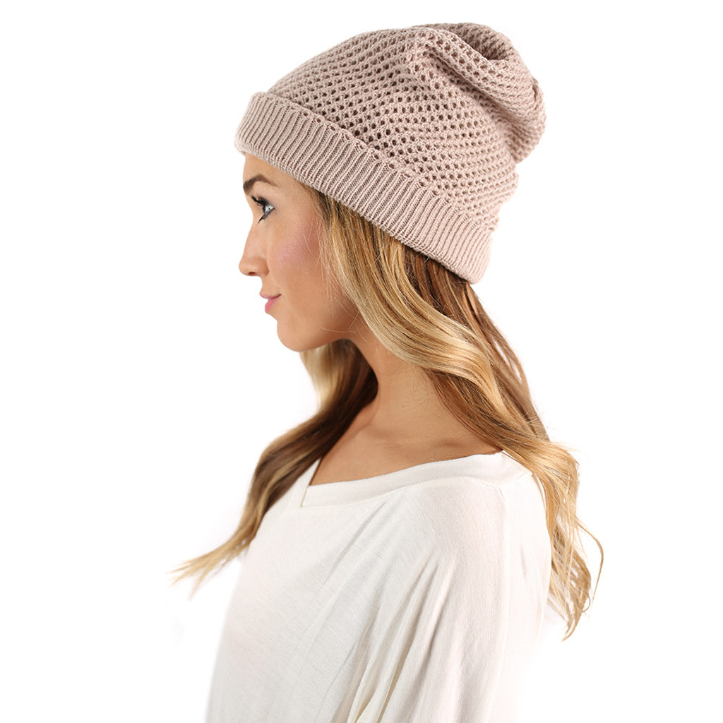 Aspen Afternoon Beanie in Beige