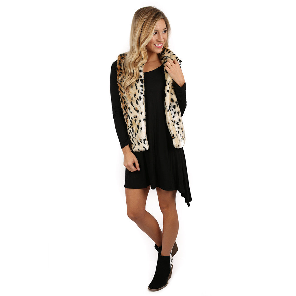 London Bound Leopard Faux Fur Vest