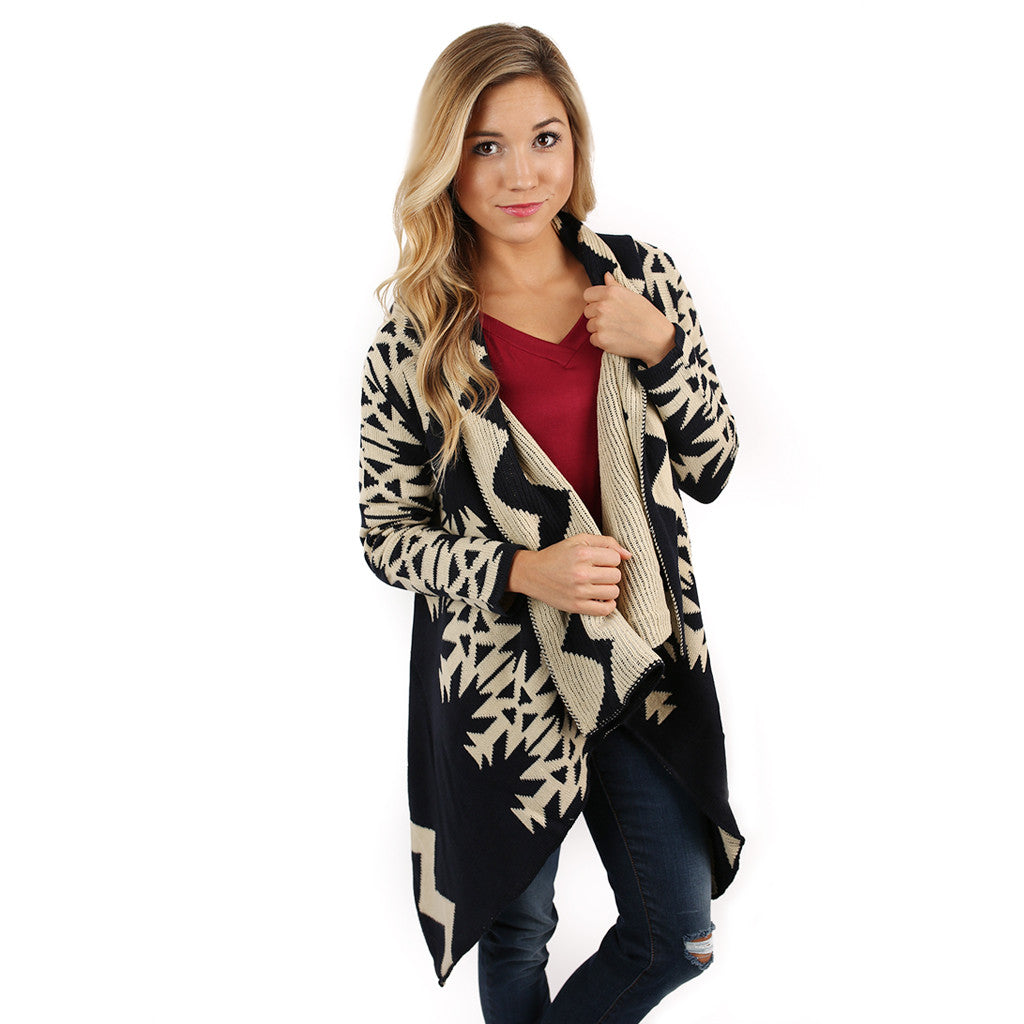 Cozy For Days Cardi in Navy