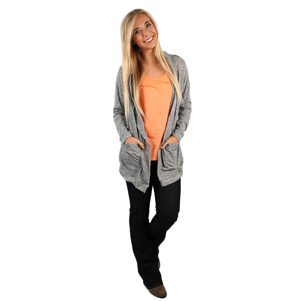 Keeping it Chic Cardi Heather Grey