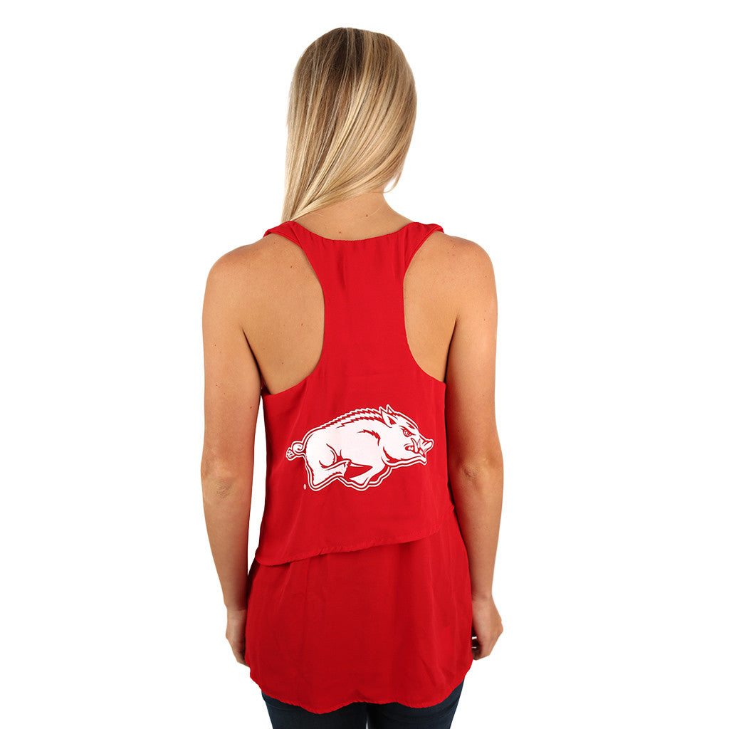 Layered Tank Red