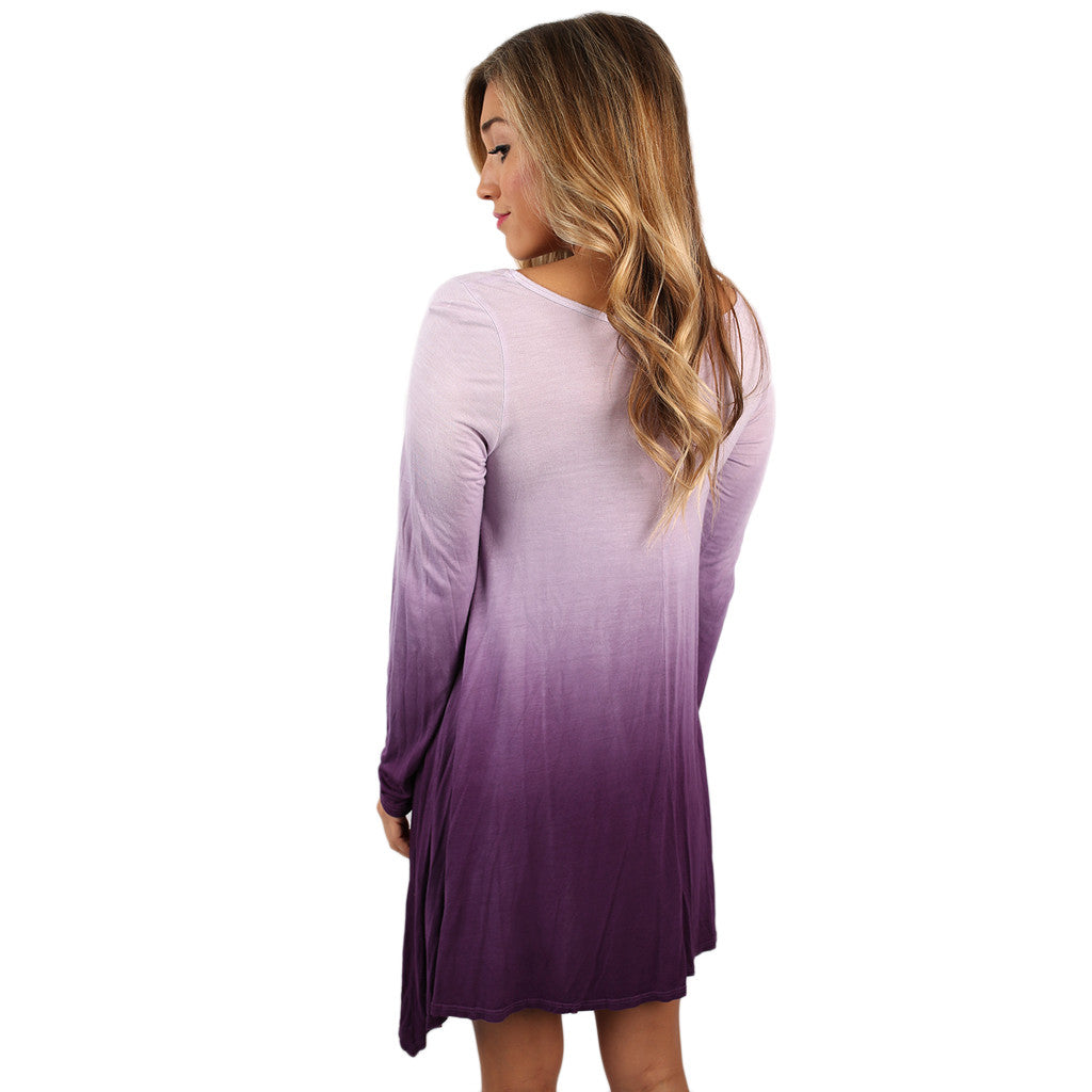 Do What I Please Tunic Purple