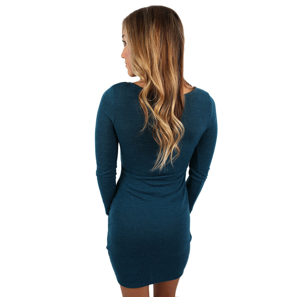 Miss Me Now Dress Teal
