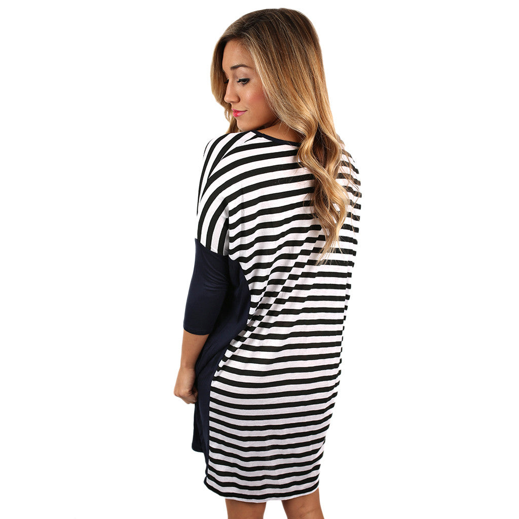 Love of Stripes Shift Dress Navy
