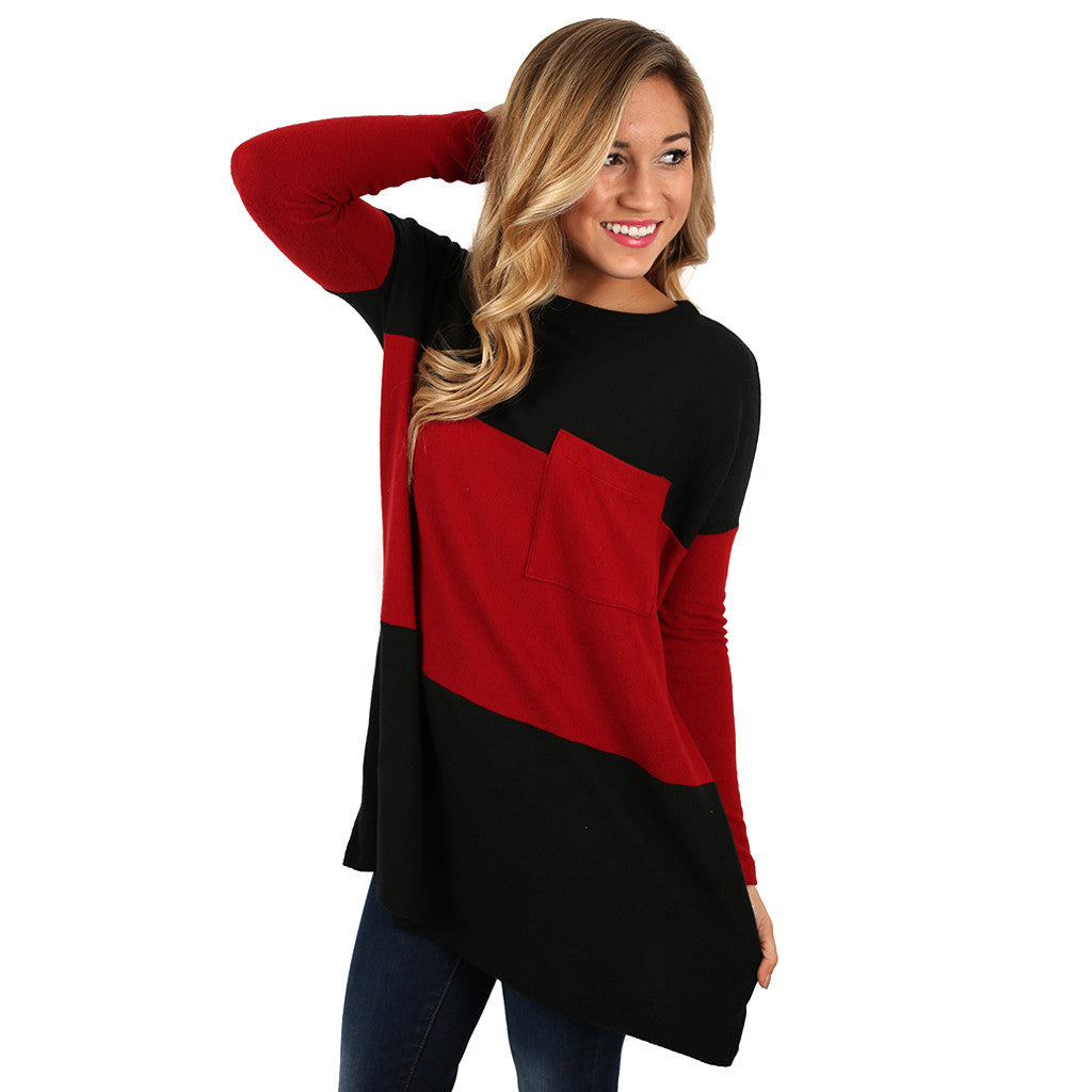 Let It Go Tunic Tee in Red