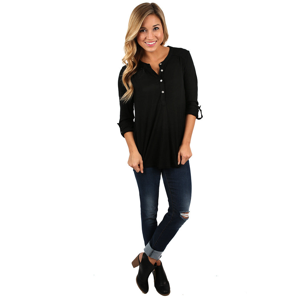 Making an Impression Top Black