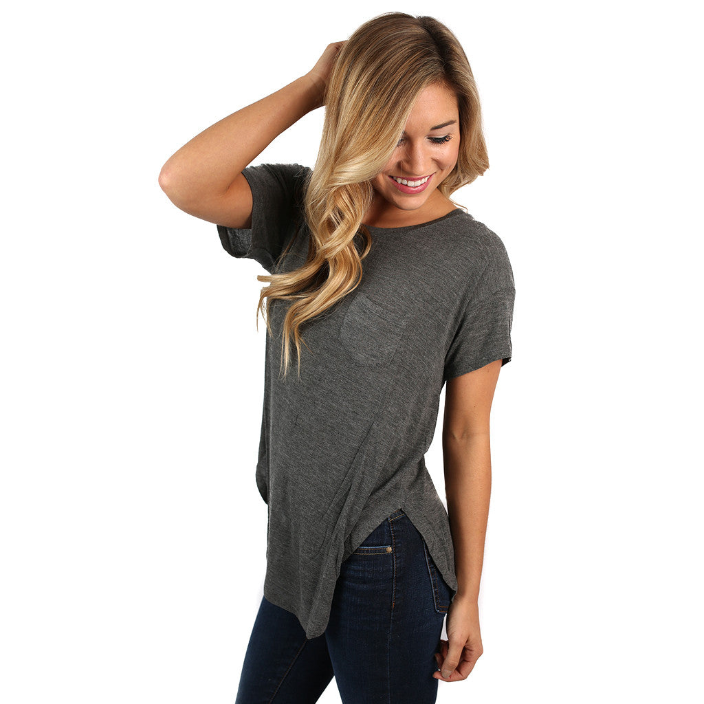 Living the Daydream Tee Charcoal