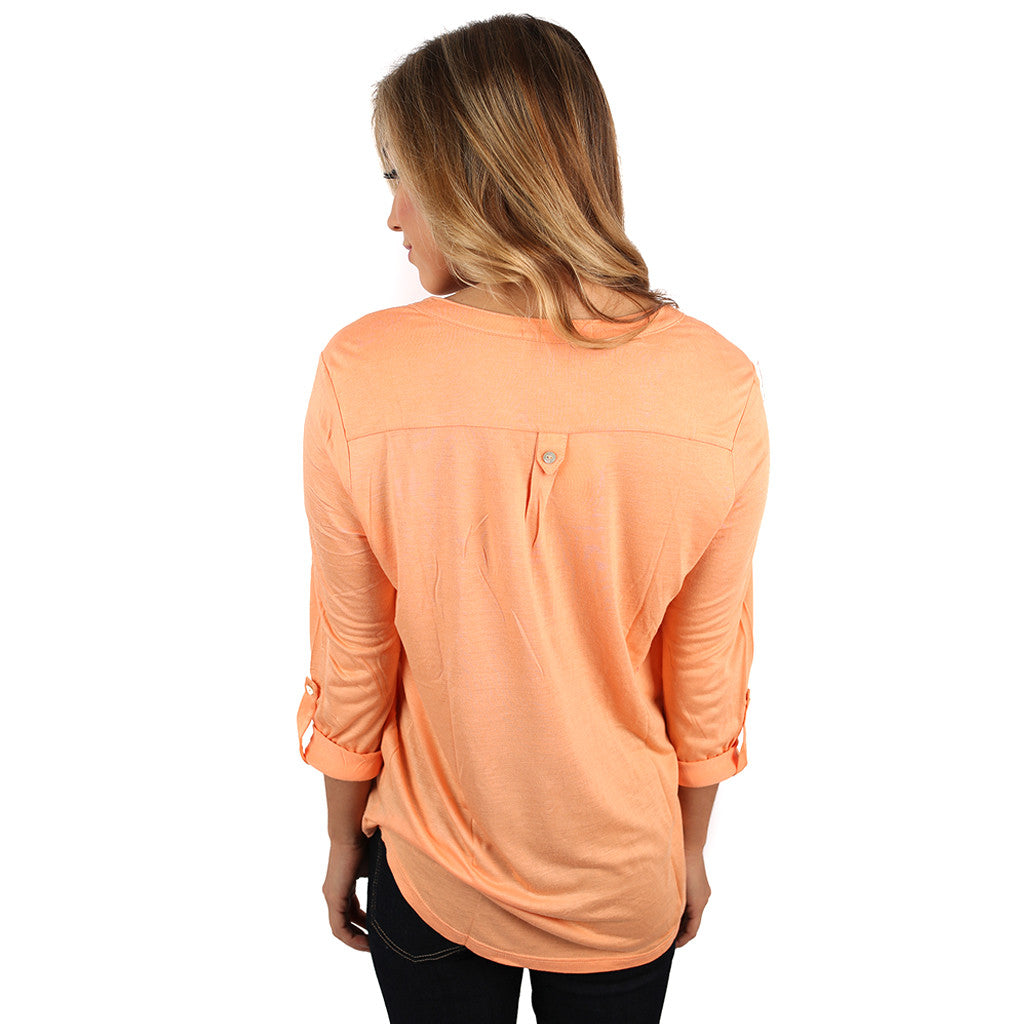 Making an Impression Top Apricot