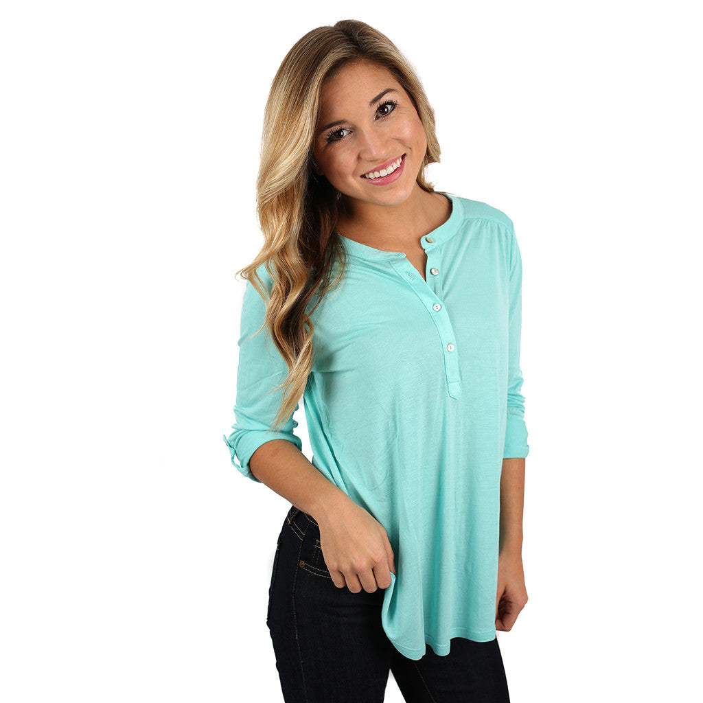 Making an Impression Top Aqua