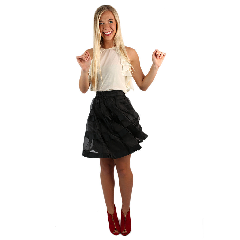 Tea Time Skirt Black