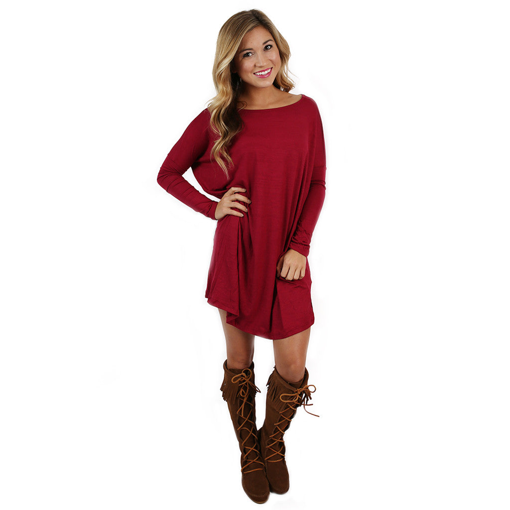 Perfect Little Tunic in Burgundy