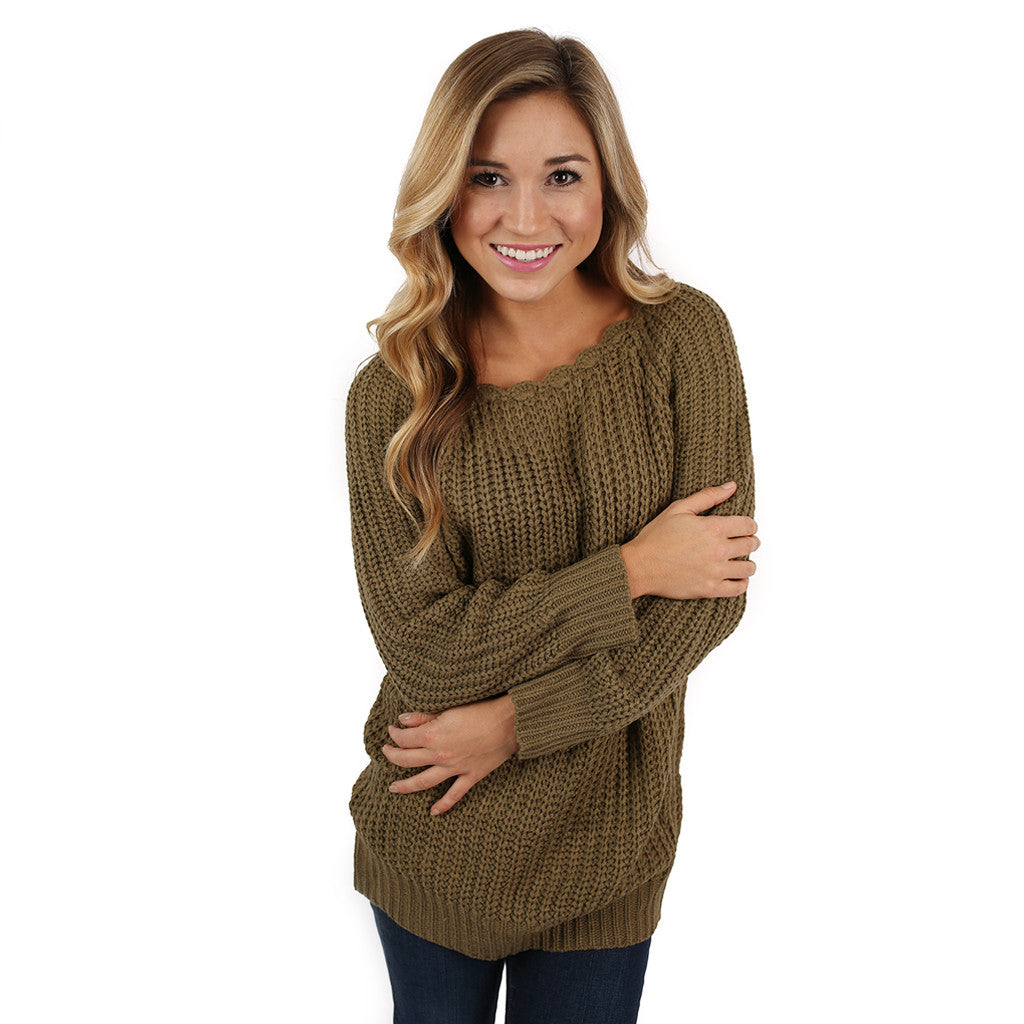 Cute & Cozy Sweater in Olive