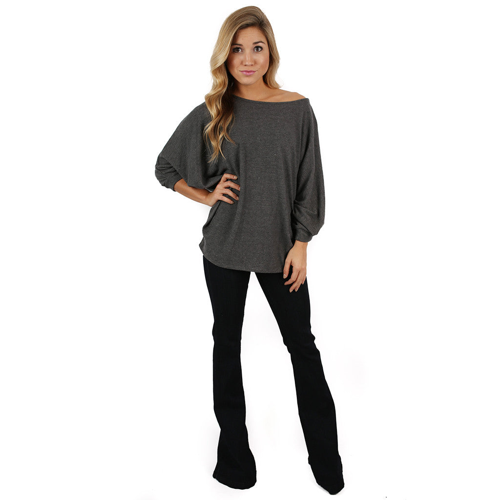 Swing With Me Dolman in Charcoal