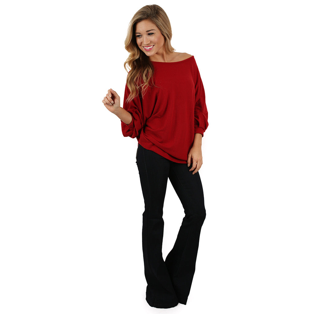 Swing With Me Dolman in Red
