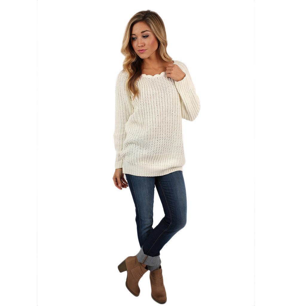 Cute & Cozy Sweater in Ivory