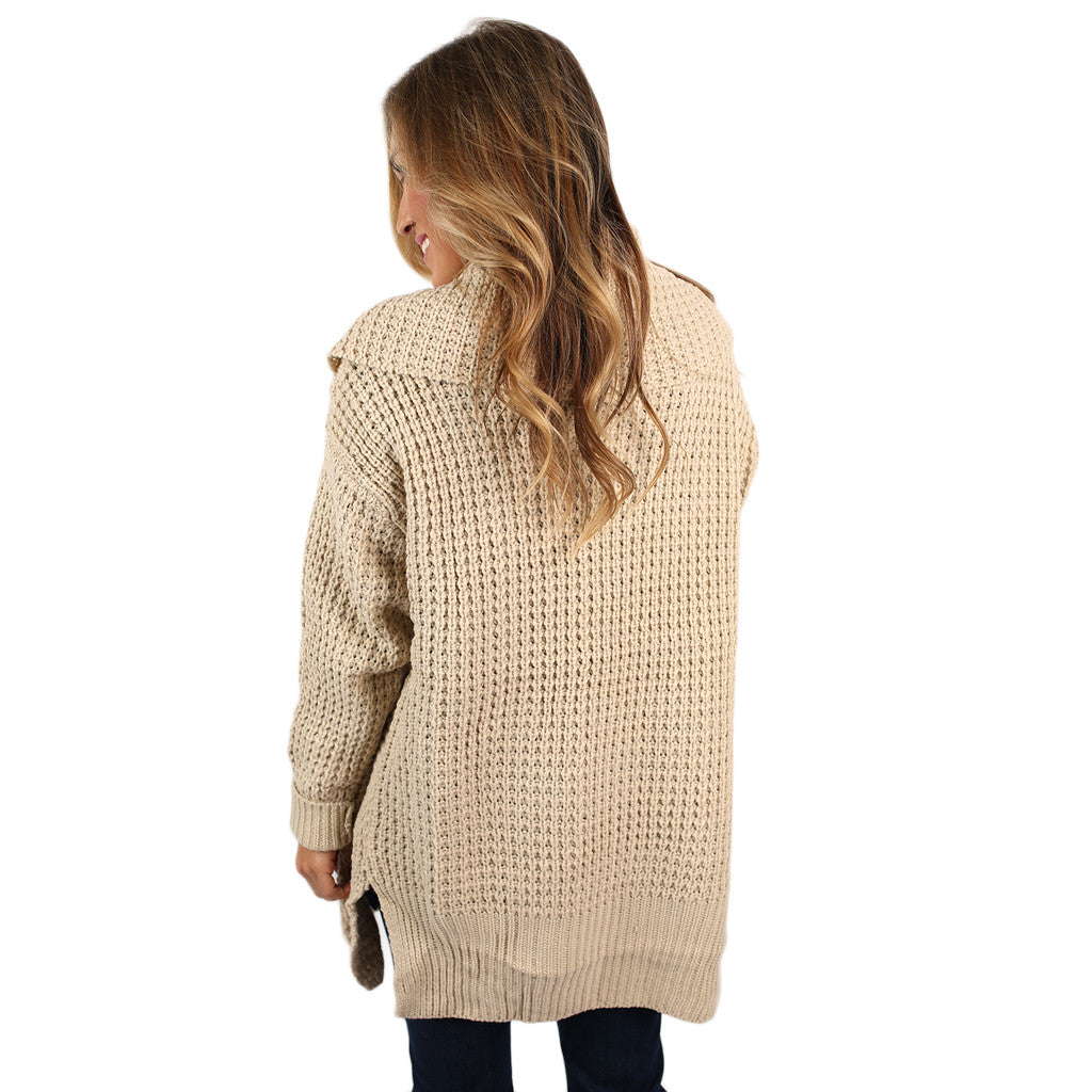 The Go To Cardi in Beige