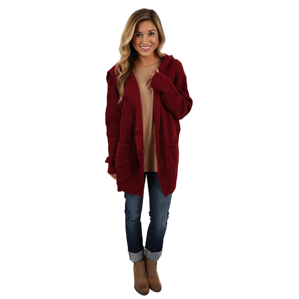 Bella In Burgundy Cardi