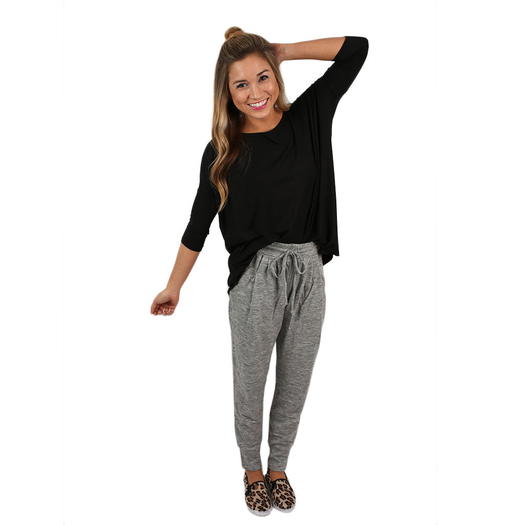 Keeping it Chic Pants Heather Grey