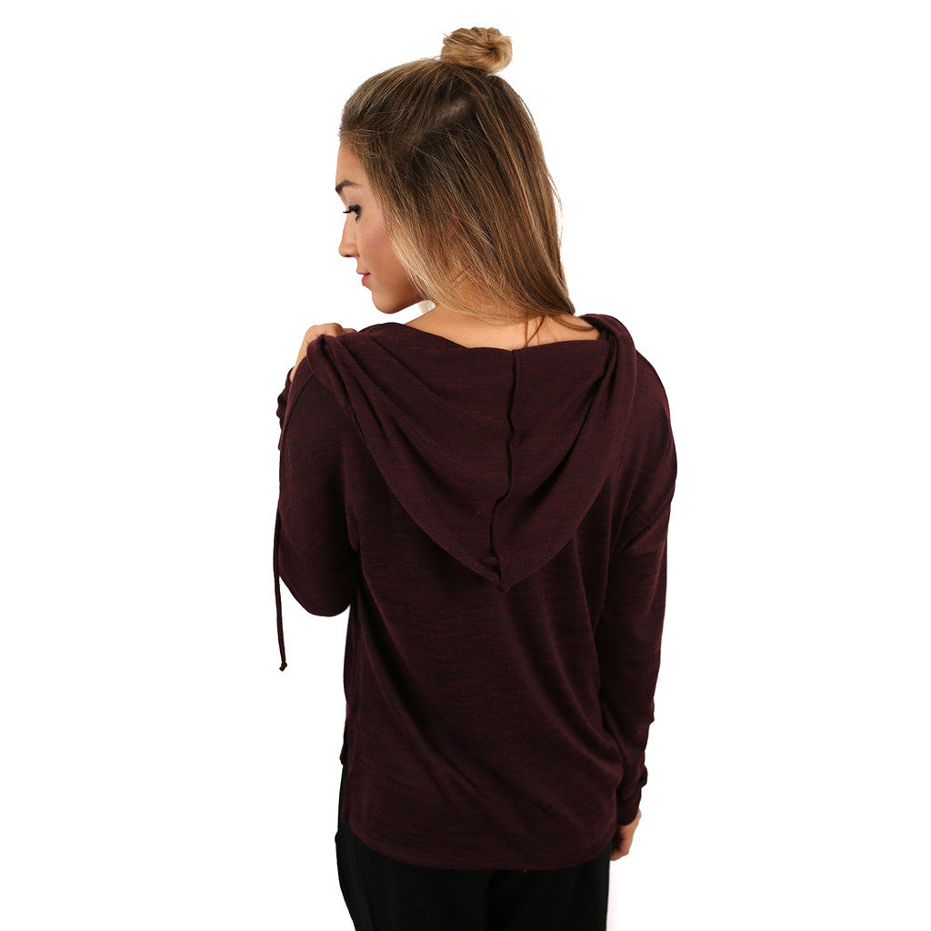 Back to the Basics Hoodie Burgundy