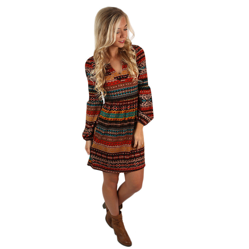 Afternoon Latte Sweater Dress Mustard