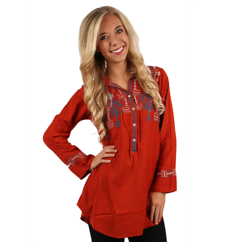 Santa Fe Tunic in Rust