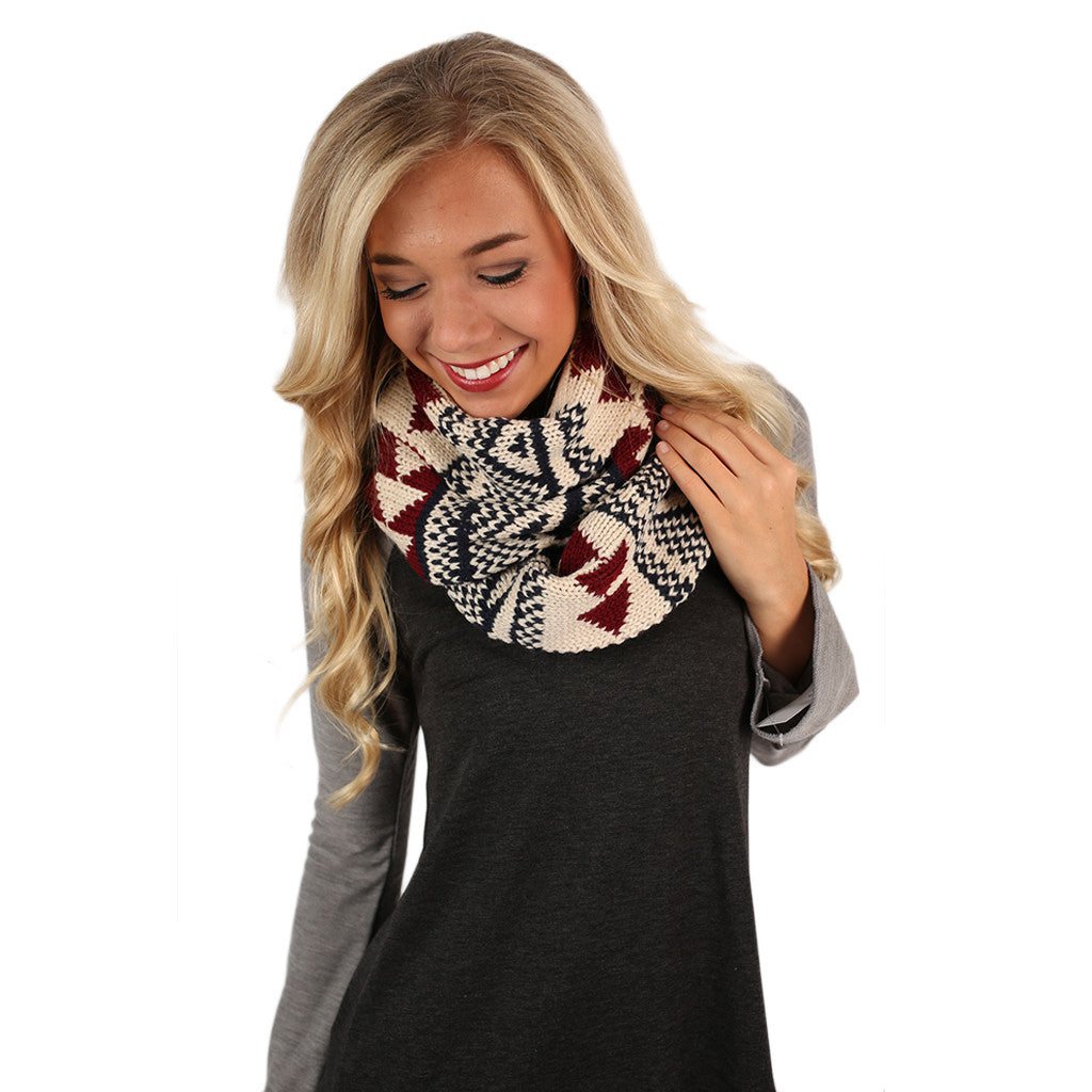 Cozy In Colorado Infinity Scarf Navy