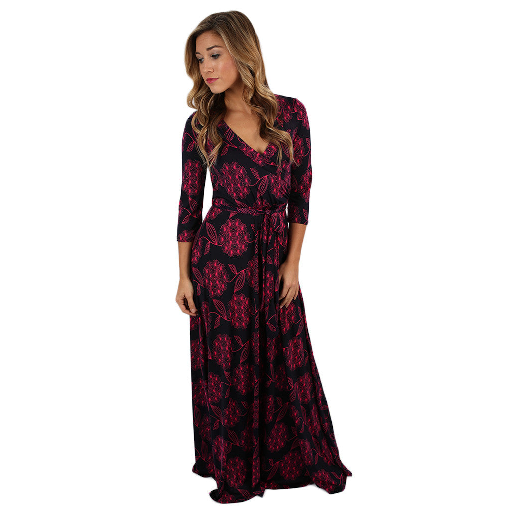 Love to Stun Fall Maxi in Pink