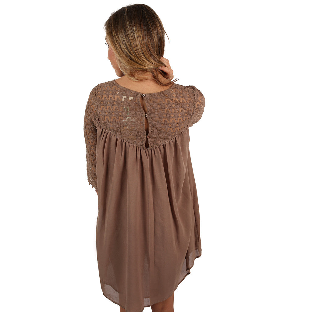 You're My Sunshine Dress in Mocha