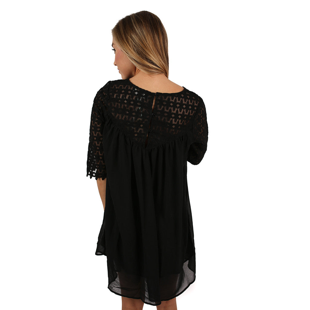You're My Sunshine Dress in Black