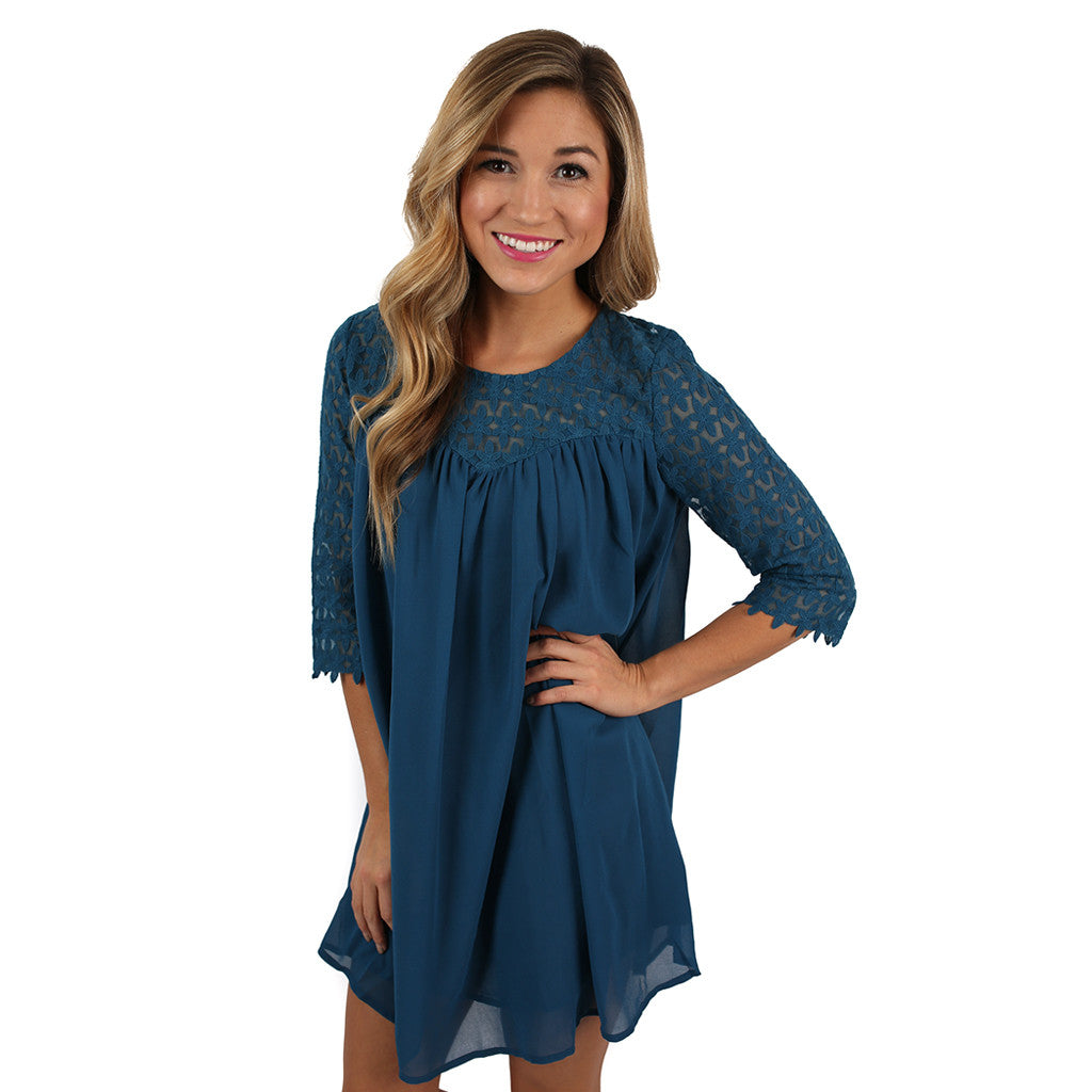 You're My Sunshine Dress in Slate Blue
