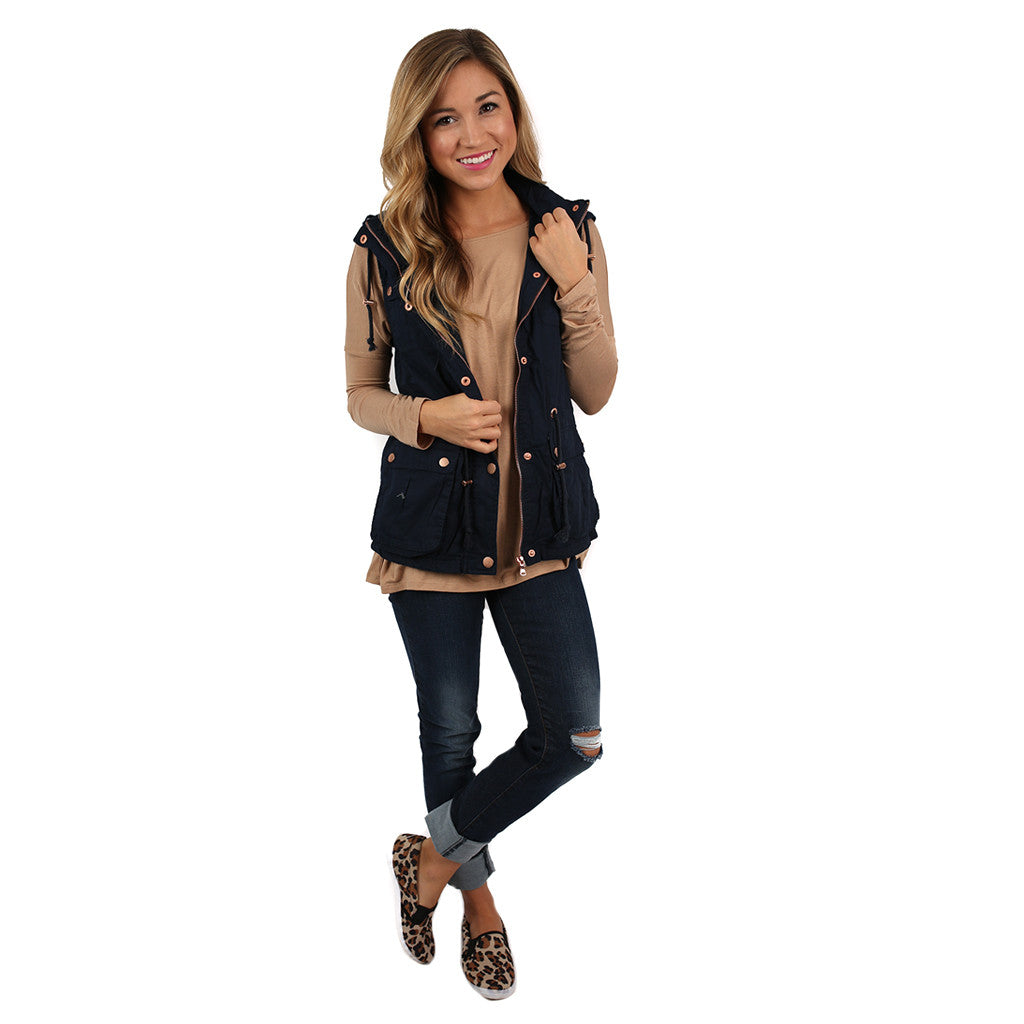 Must Be Serendipity Vest Navy