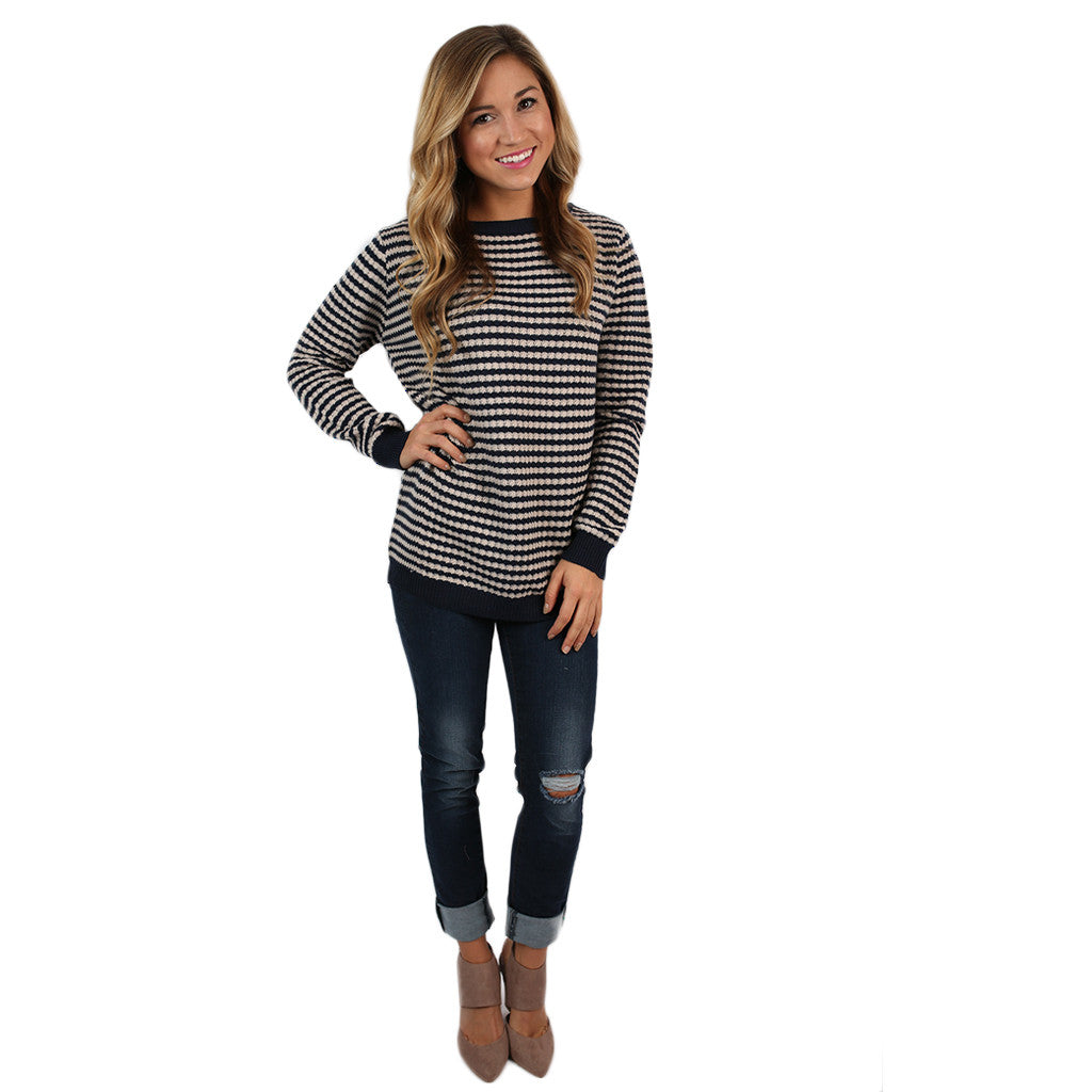 The Serendipity Sweater in Navy