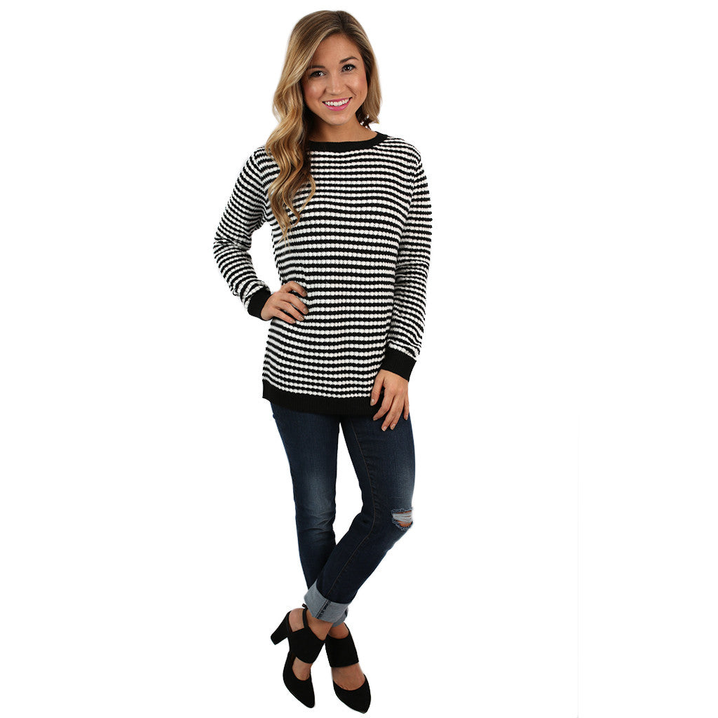 The Serendipity Sweater in Black
