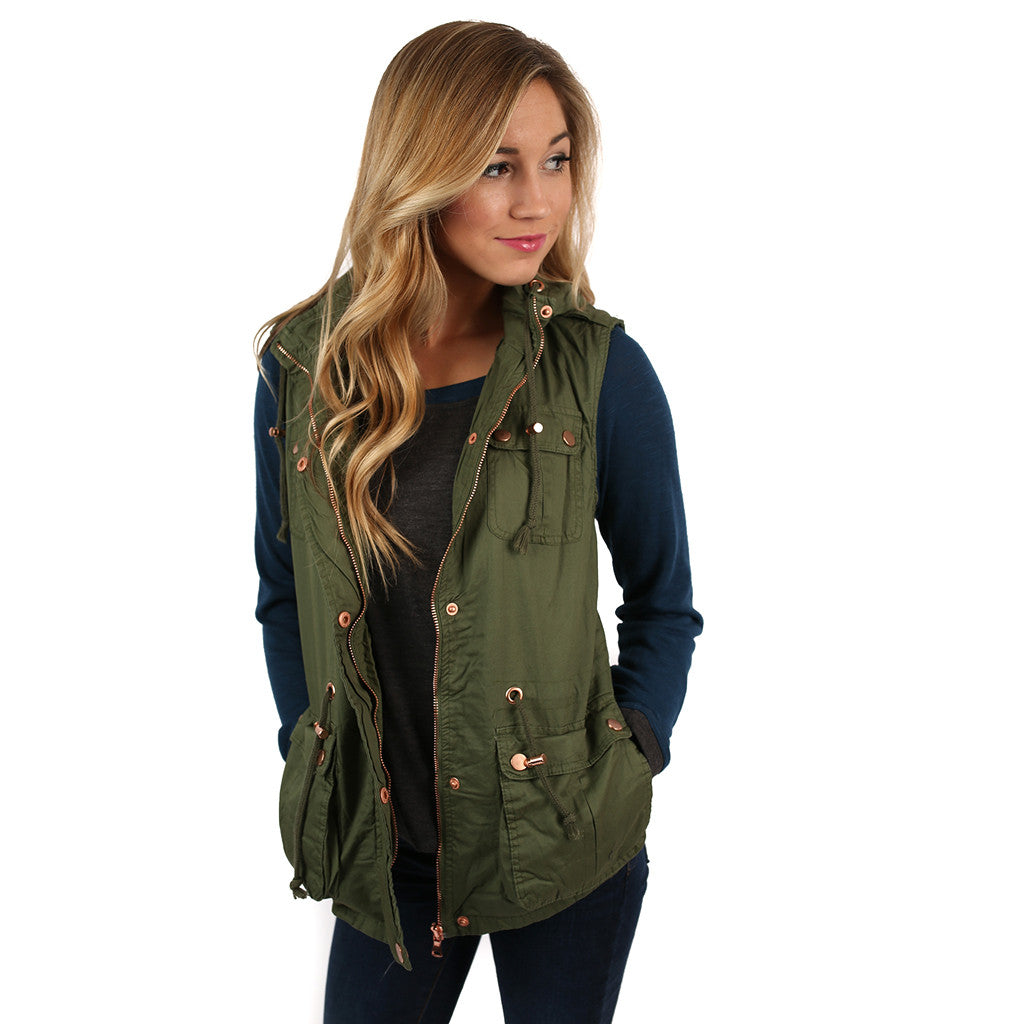 Must Be Serendipity Vest Olive