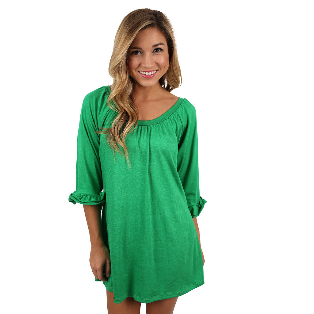 Cheer On Tunic in Green