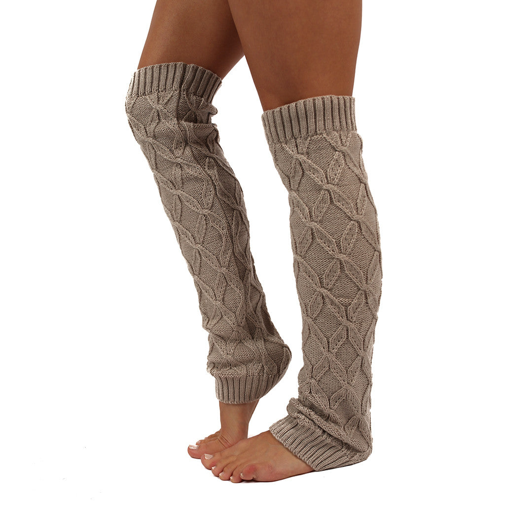 Keep Me Cozy Leg Warmer in Beige