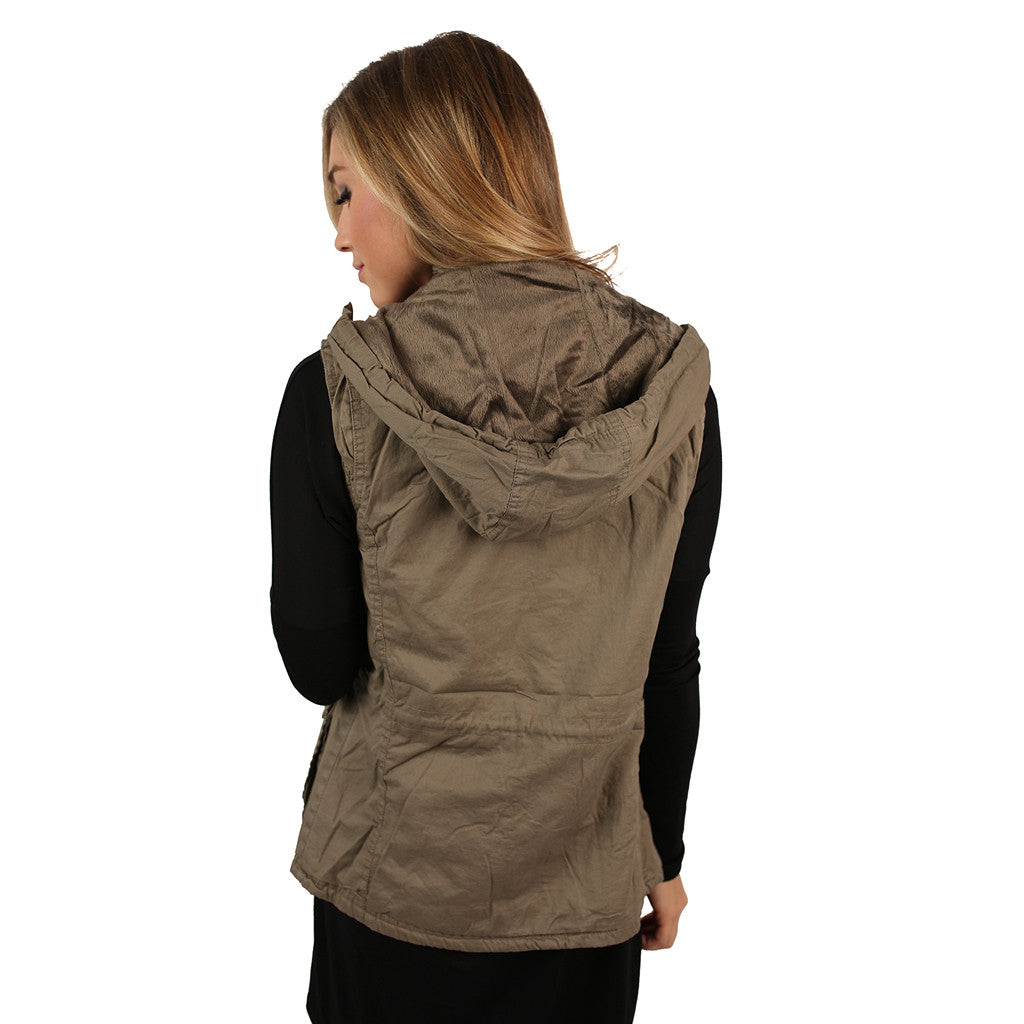 Must Be Serendipity Vest Dark Khaki