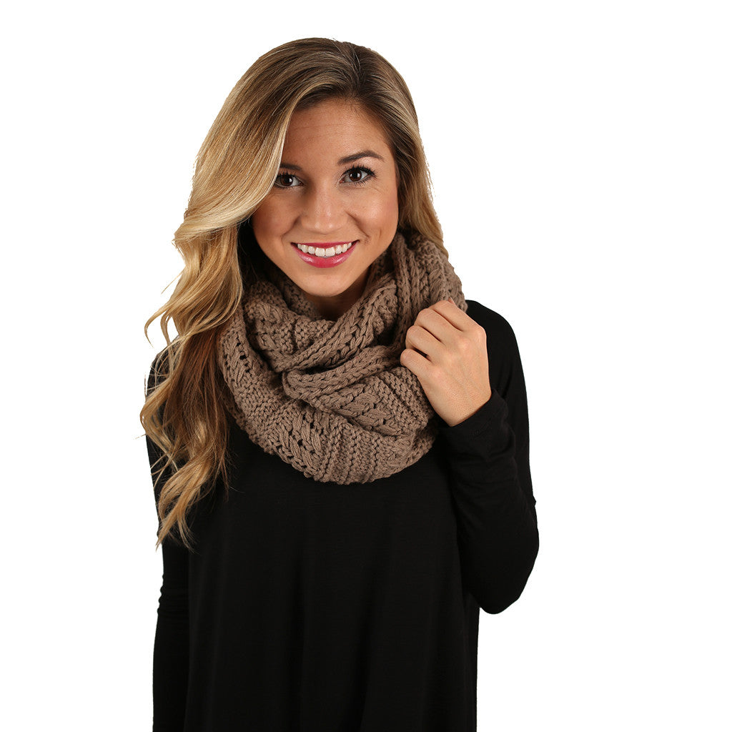 Sipping By The Fire Infinity Scarf Mocha
